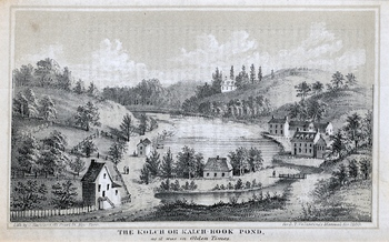 The Kolch or Kalch-Hook Pond, as it was in Olden Times